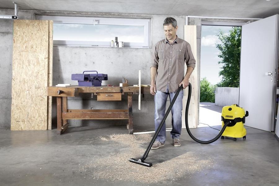 Уборка различных поверхностей с хозяйственным пылесосом Karcher WD 4
