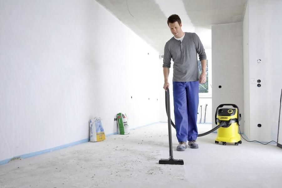 Использование хозяйственного пылесоса для уборки Karcher WD 5