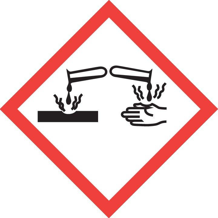 Символ опасности GHS05: Коррозионное воздействие
