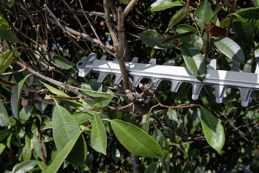 Аккумуляторный кусторез для придания ухоженного вида саду