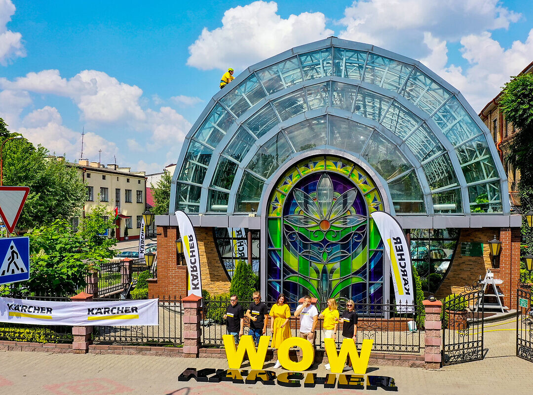 Очистка зимнего сада в городе Брест