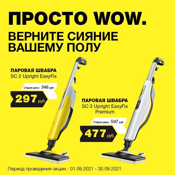 Скидки на паровые швабры SC 2 Upright EasyFix и SC 3 Upright EasyFix Premium